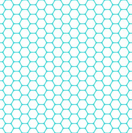 latticed: Seamless hexagons pattern. Vector art.