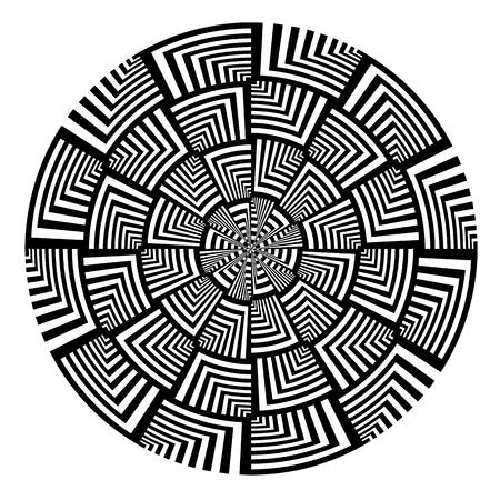 Twisting abstract circle design element. Vector art. Illustration