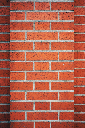 pilaster: Modern brick wall texture. Architectural background. Stock Photo