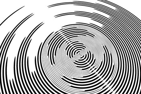 Circular rotation textured background. Vector art. Illustration