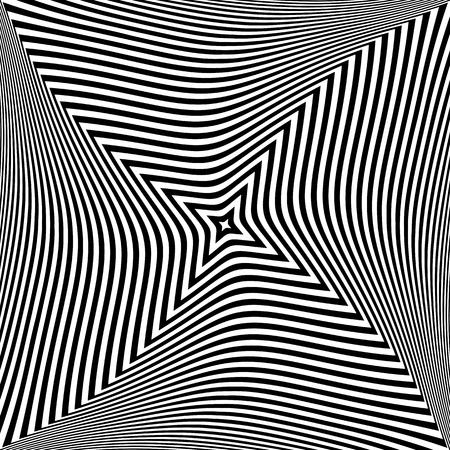 Abstract op art design. Textured background. Vector art. Illustration