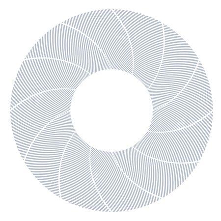 Circle design element. Lines texture. Vector art.