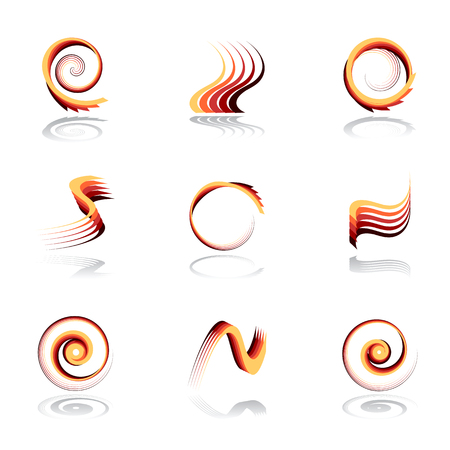 gyration: Design elements set. Abstract icons. Vector set.