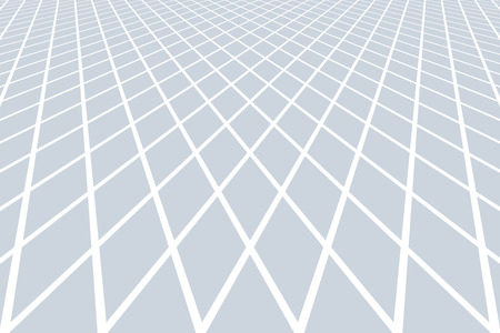 Diminishing  perspective view. Lines and diamonds pattern. Abstract textured background. Vector art.