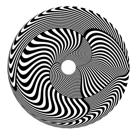 Abstract rotation circle design element. Vector art. Illustration