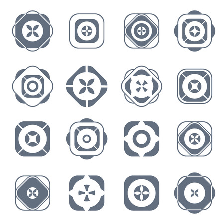 abstract design elements: Design elements. Abstract icons set. Vector art. Illustration