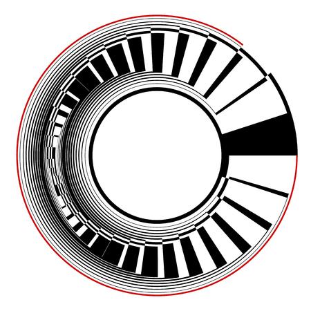 Élément de conception de cercle abstrait. Art vectoriel