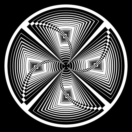 Circle design element. Vector art.