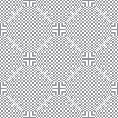 Seamless diagonal checked pattern Vector art. Illustration