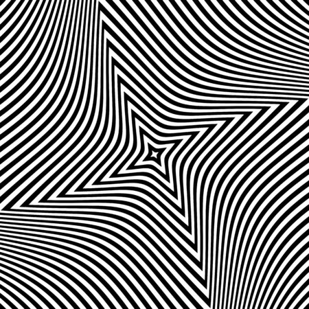 Abstract op art design. Textured background. Vector art. Ilustrace