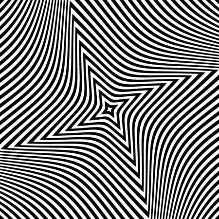 twist: Abstract op art design. Textured background. Vector art. Illustration