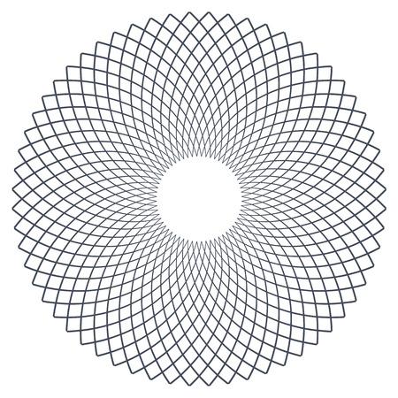 円のデザイン要素ベクトルアート。
