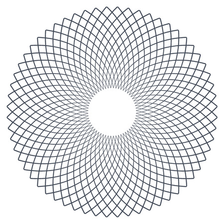 latticed: Circle design element vector art. Illustration