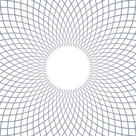 Abstract rotation circular lines pattern. Vector art.