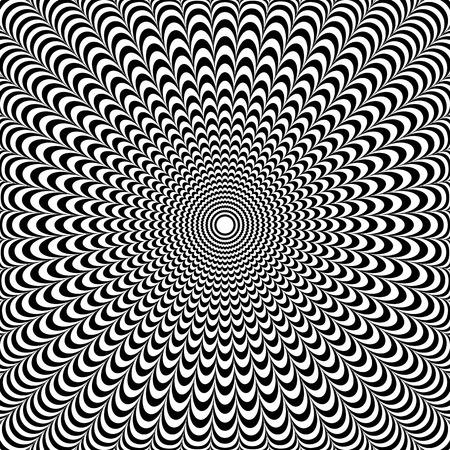 Optical illusion abstract design. Vector art.