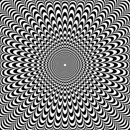 Optical illusion abstract design. Op art pattern. Vector illustration. Vettoriali