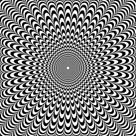 Optical illusion abstract design. Op art pattern. Vector illustration. Vectores