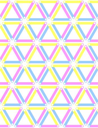 Seamless triangles, diamonds and hexagons pattern. Geometric texture. Vector art.
