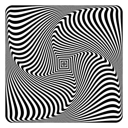 Op art pattern vector illustration.
