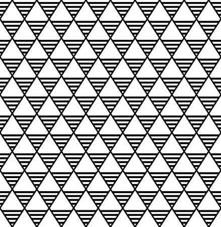 Seamless diamonds and triangles pattern. Geometric latticed texture. Vector art. Stock Vector - 90502004