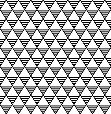 Seamless diamonds and triangles pattern. Geometric latticed texture. Vector art.