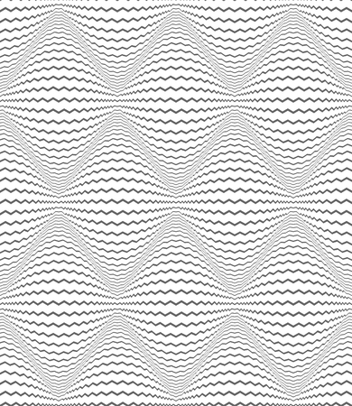 Seamless diamonds pattern. Zigzag lines texture. 3D illusion. Vector art.