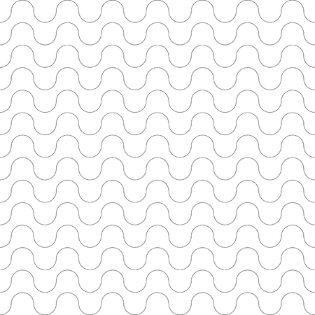 원활한 패턴입니다. 물결 모양의 선 텍스처. 벡터 아트입니다.