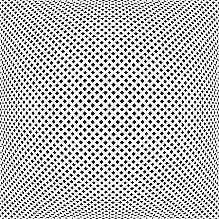 Convex pattern. Abstract square dots texture. Vector art.