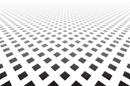Diminishing perspective view. Geometric texture. Vector art.