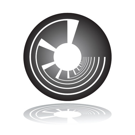 Circle design element. Illustration