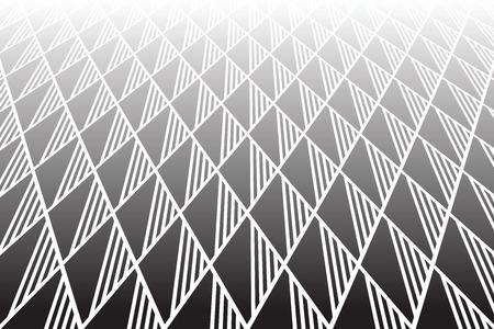 Patrón geométrico de diamantes y triángulos. Disminución de la vista en perspectiva. Fondo de textura Vector art. Foto de archivo - 92726165
