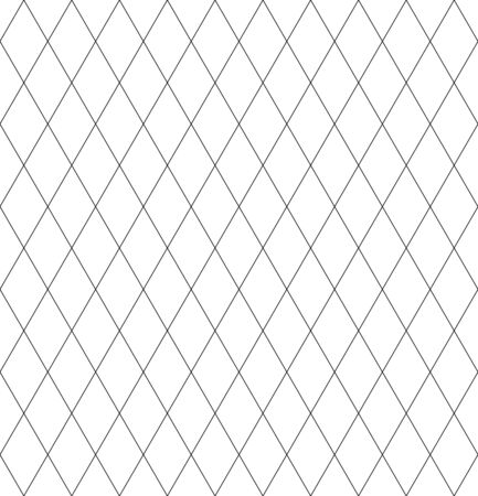 Seamless diamonds pattern. Lattice geometric texture. Vector art.