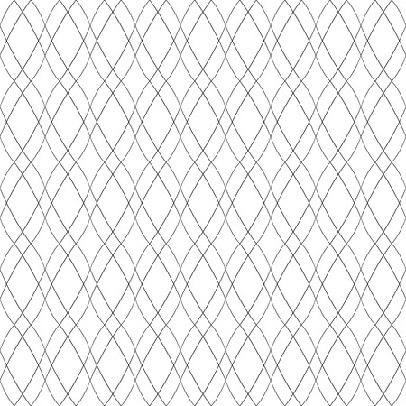 Seamless wavy lines convex pattern. Vector art.