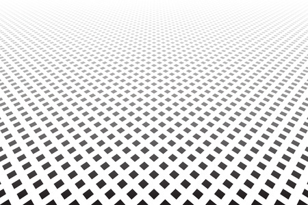 Dots texture diminishing perspective view vector art.