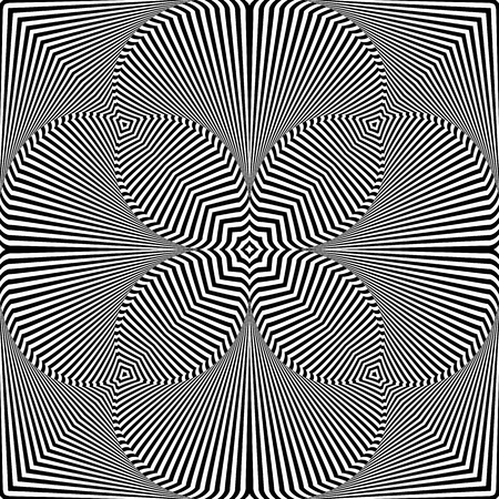 Abstract decorative pattern. Striped lines texture. Vector art.