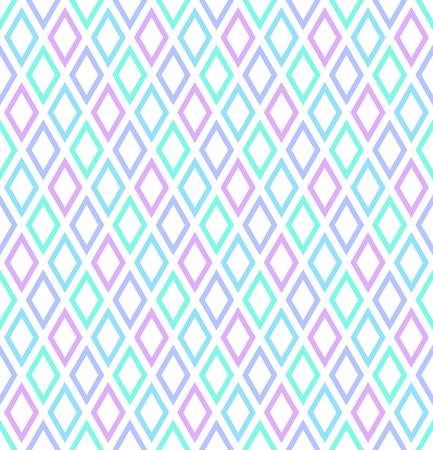 Seamless diamonds pattern. Abstract color geometric texture Vector art.