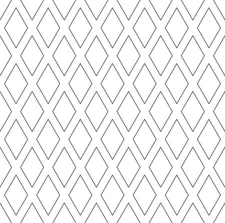 Seamless diamonds patterns. Geometric texture Vector art.