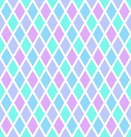 Seamless diamonds pattern. Abstract color geometric texture Vector art.