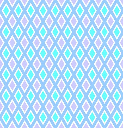 Seamless diamonds pattern. Abstract color geometric texture. Vector art. Illustration