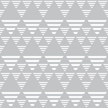 Seamless diamonds and triangles pattern. Geometric texture. Vector art.