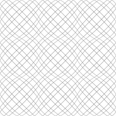 Seamless 3D convex pattern. Wavy lines texture. Vector art.