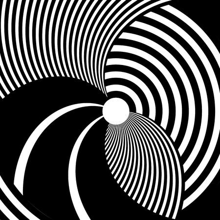 Abstract rotation circle design. Lines texture.Vector art.