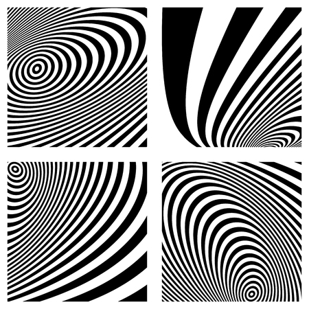 Abstract lines patterns. Set of striped textures vector art.