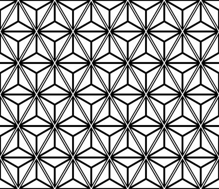 Triangles seamless and diamonds pattern. Geometric texture vector art.