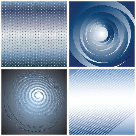 Set of abstract blue backgrounds and textures.