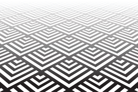 Geometric pattern and background of Diminishing perspective view Vector art.