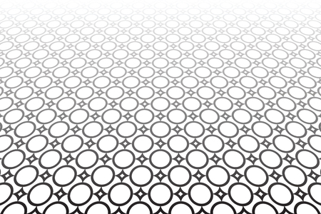 Diminishing perspective of Abstract geometric background. Tiled floor Vector art.