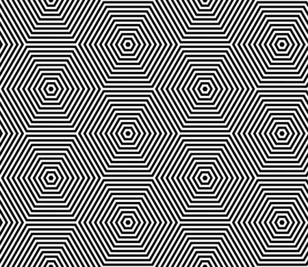 Seamless op art pattern. Geometric lines texture. Vector art. Vektorové ilustrace
