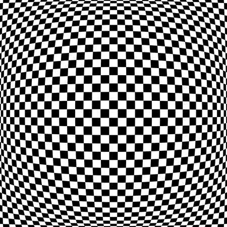 Motivo a quadri 3D. Trama geometrica convessa. Arte vettoriale. Vettoriali