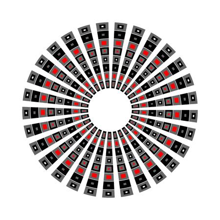 Abstract geometric rotation pattern. Circle design. Vector art.  イラスト・ベクター素材